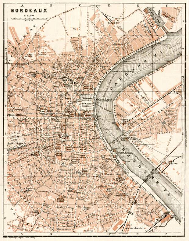 Bordeaux Map Of France.Old Map Of Bordeaux In 1902 Buy Vintage Map Replica Poster Print Or