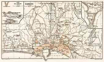 Cannes city map, 1902