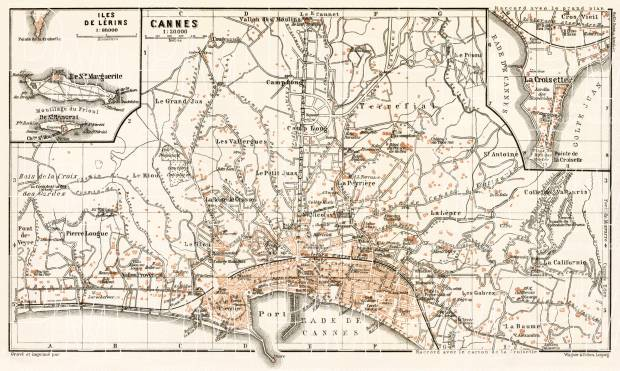 Cannes city map, 1902. Use the zooming tool to explore in higher level of detail. Obtain as a quality print or high resolution image