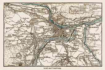 Ischl (Bad Ischl) and environs map, 1903