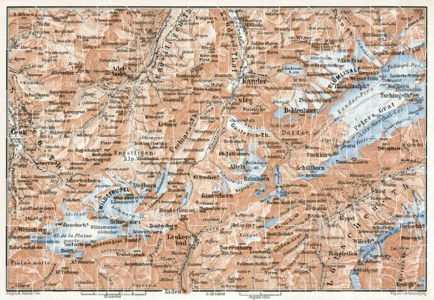 Kandersteg map, 1909. Use the zooming tool to explore in higher level of detail. Obtain as a quality print or high resolution image