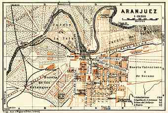 Aranjuez city map, 1929