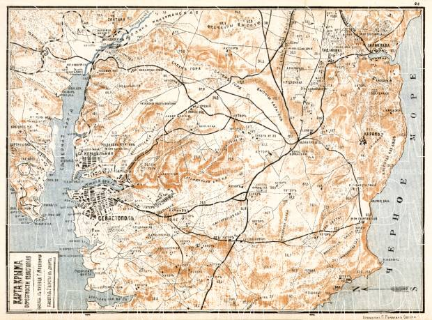 Sebastopol environs map, 1905. Use the zooming tool to explore in higher level of detail. Obtain as a quality print or high resolution image
