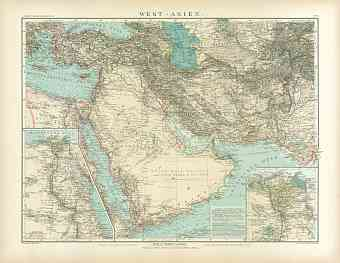 Western Asia Map, 1905