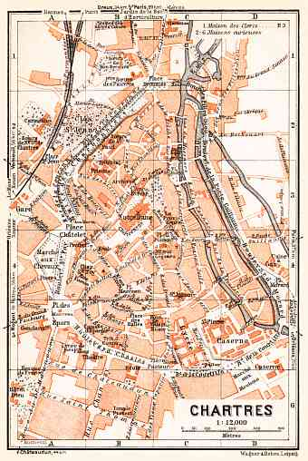 Chartres city map, 1931