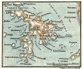 Brioni Grande map, 1911