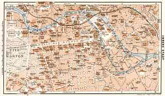 Berlin, city centre map, 1911