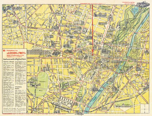Old map of Munich Mnchen about 1920 in 1920 Buy vintage map