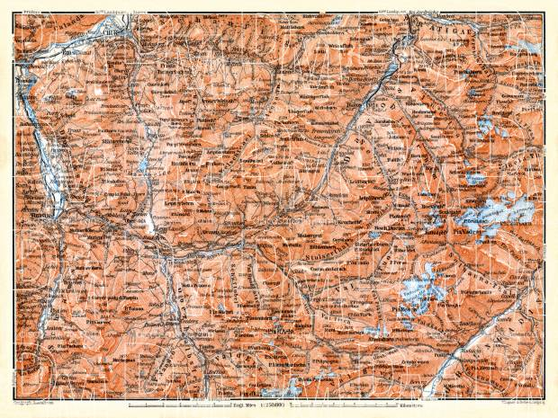 Grison Alps map, 1897. Use the zooming tool to explore in higher level of detail. Obtain as a quality print or high resolution image