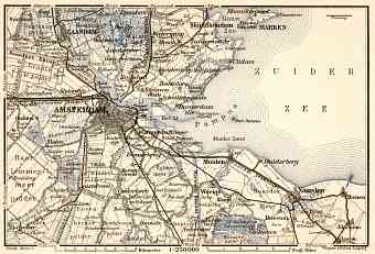 Amsterdam and environs map, 1909