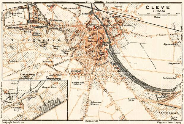 Cleve city map, 1905. Use the zooming tool to explore in higher level of detail. Obtain as a quality print or high resolution image