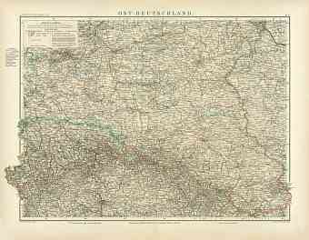 Eastern Germany Map, 1905