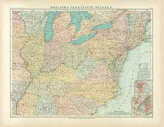 Eastern United States Map, 1905