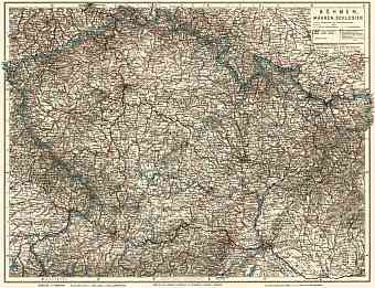 Czechia on the general map of Bohemia, Moravia and Silesia, 1911
