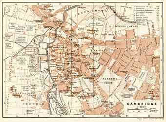 Cambridge city map, 1906