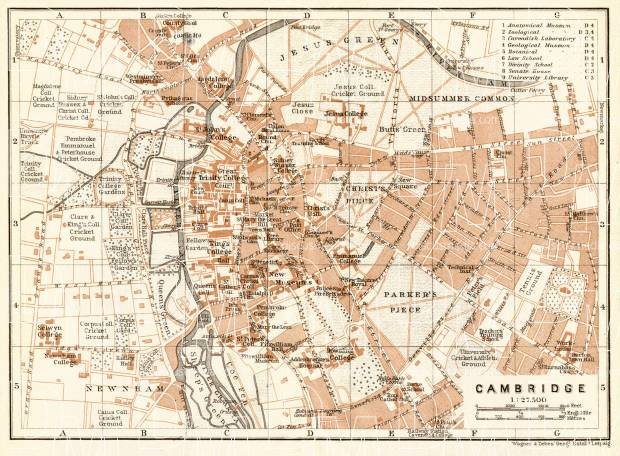 Cambridge city map, 1906. Use the zooming tool to explore in higher level of detail. Obtain as a quality print or high resolution image