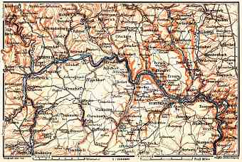 Echternach to Ettelbrück district map, 1904