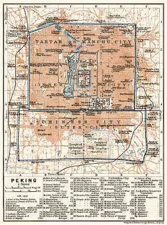 Beijing (北京, Peking) city map, 1914