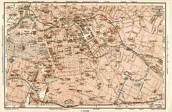 Berlin, city centre map, 1906