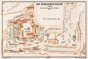 Plan of the Castle of Heidelberg, 1909