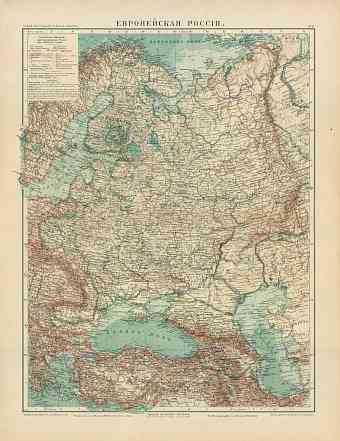 European Russia General Map, 1910