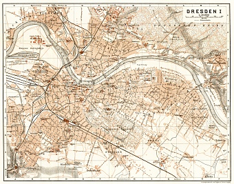 Dresden city map, 1911