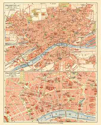 Frankfurt am Main city map, 1927
