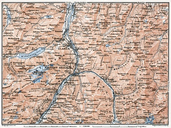 Glarus and environs map, 1909
