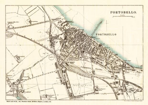 Portobello city map, 1908. Use the zooming tool to explore in higher level of detail. Obtain as a quality print or high resolution image