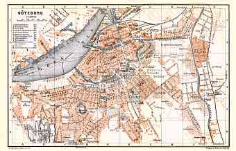 Göteborg (Gothenburg) city map, 1911