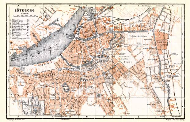 Göteborg (Gothenburg) city map, 1911. Use the zooming tool to explore in higher level of detail. Obtain as a quality print or high resolution image