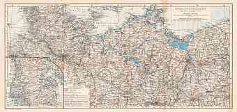 Germany, western provinces of the northwestern part (with Schleswig). General map, 1906
