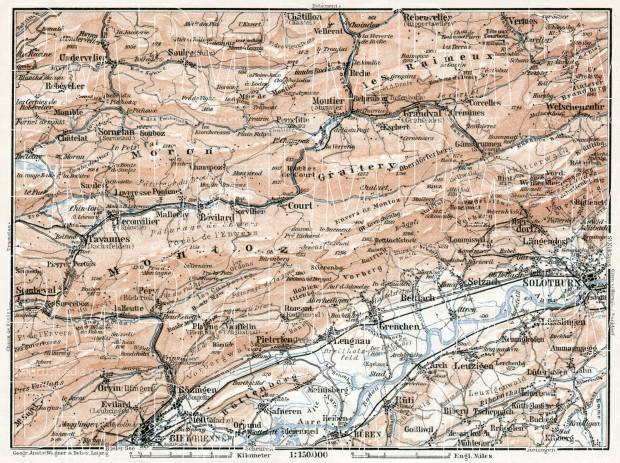Jura department map, northeastern part, 1909. Use the zooming tool to explore in higher level of detail. Obtain as a quality print or high resolution image