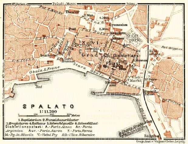 Map of the environs of Spalato, 1911. Use the zooming tool to explore in higher level of detail. Obtain as a quality print or high resolution image