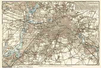 Berlin and environs map, 1910