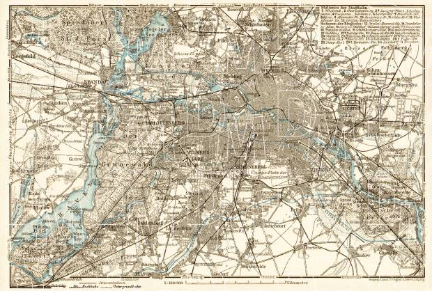 Berlin and environs map, 1910. Use the zooming tool to explore in higher level of detail. Obtain as a quality print or high resolution image