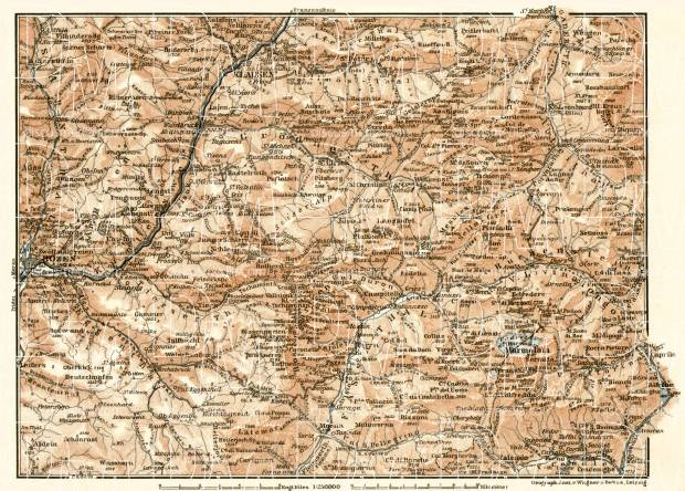 Bolzano´s eastern environs map, 1906. Use the zooming tool to explore in higher level of detail. Obtain as a quality print or high resolution image