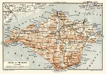 Isle of Wight map, 1906