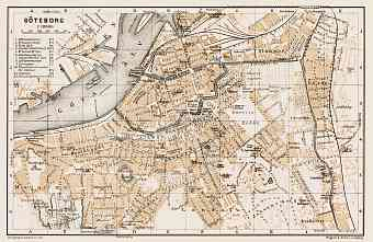 Göteborg (Gothenburg) city map, 1929
