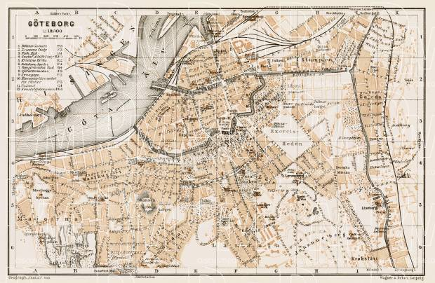 Göteborg (Gothenburg) city map, 1929. Use the zooming tool to explore in higher level of detail. Obtain as a quality print or high resolution image