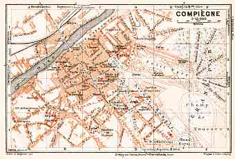 Compiègne city map, 1931