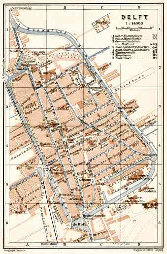 Delft city map, 1909