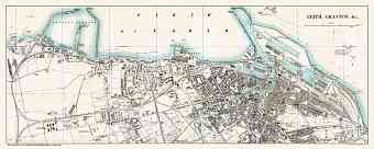 Leith and Granton city map, 1908