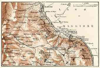 Baveno and Stresa environs map, 1913