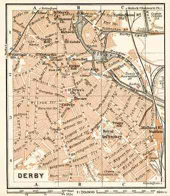 Derby city map, 1906