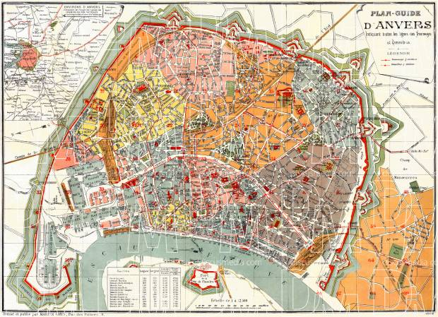 Belgium Old Antique City and Town Maps Prints and Pictures Map