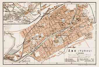 Åbo (Turku) city map, 1929