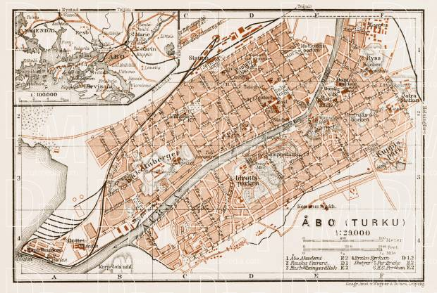 Åbo (Turku) city map, 1929. Use the zooming tool to explore in higher level of detail. Obtain as a quality print or high resolution image