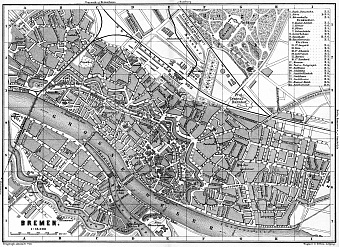 Historical Map Prints Of Bremen In Germany For Sale And Download