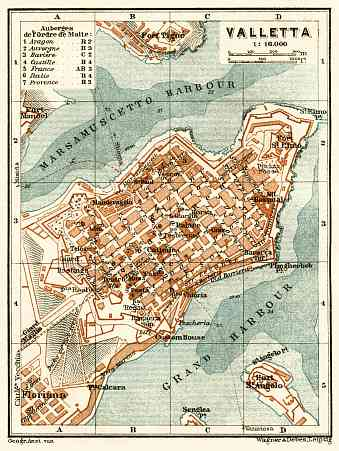 Valletta city map, 1929